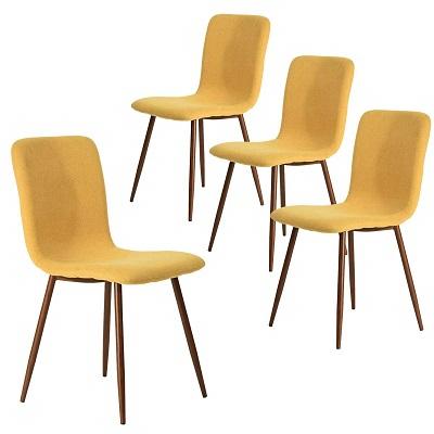 silla eames amarillo mostaza
