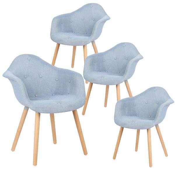 pack sillas nordicas tapizadas con reposabrazos