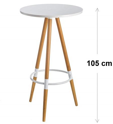 mesa nordica alta 3 patas